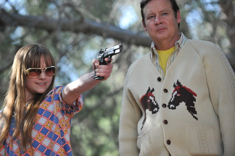 Tara Lynn Barr and Joel Murray