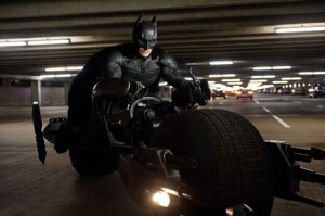 Batman on motorcycle
