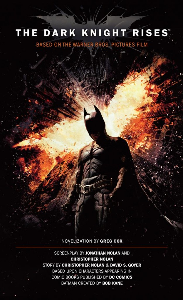 The Dark Knight Rises Novelization Cover