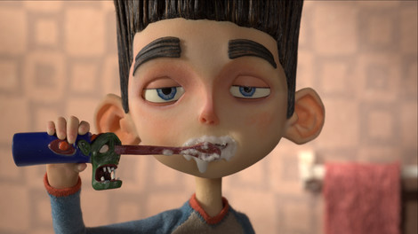 Norman brushing his teeth in ParaNorman