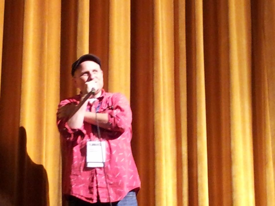 Bobcat Goldthwait at an IFFBoston Q & A after the Willow Creek screening