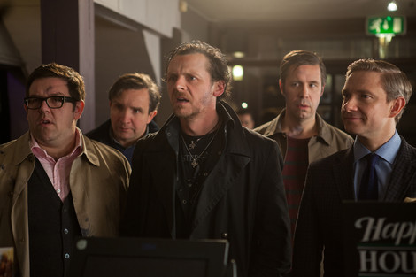 Nick Frost, Eddie Marsan, Simon Pegg, Paddy Conasdine, and Martin Freeman in The World's End © Focus Features Inc. All rights reserved