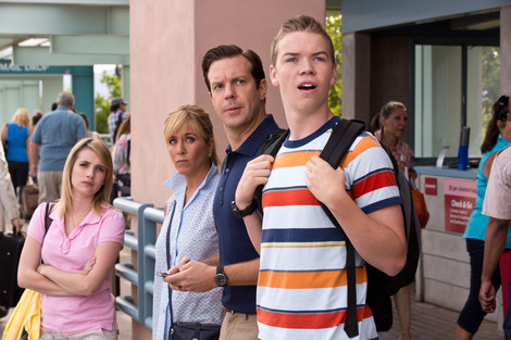 Emma Roberts, Jennifer Aniston, Jason Sudeikis, and Will Poulter in We're the Millers