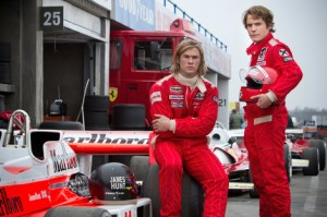 Chris Hemsworth and Daniel Bruhl in Rush © Universal Pictures