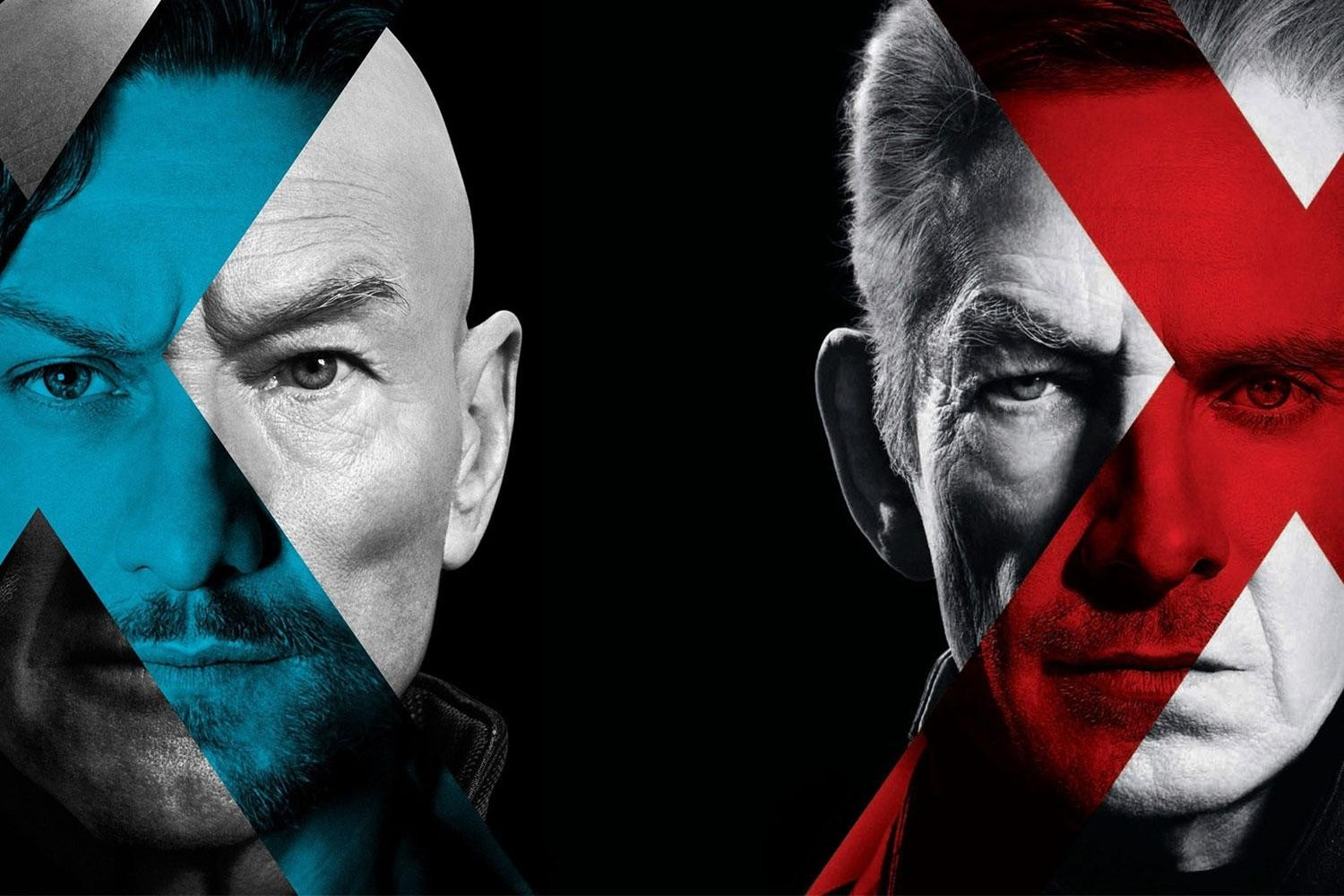 James McAvoy, Patrick Stewart, Ian McKellen, and Michael Fassbender in X-Men: Days of Future Past poster