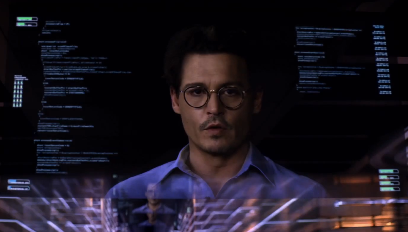 Johnny Depp in Transcendence