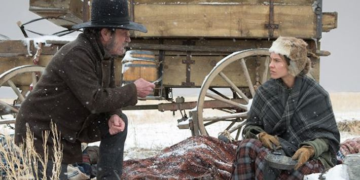 Tommy Lee Jones and Hilary Swank in THE HOMESMAN
