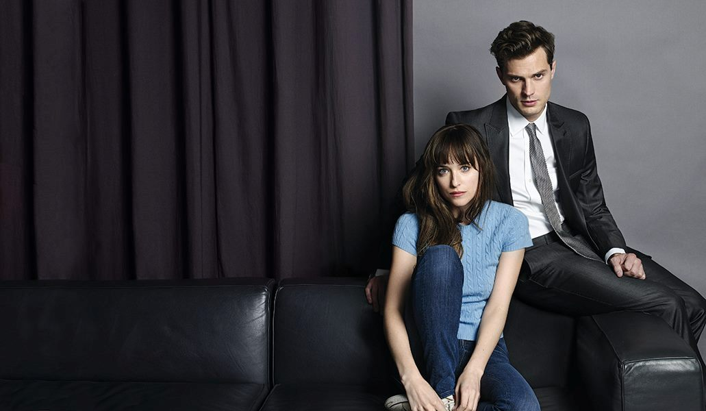 Jame Dornan and Dakota Johnson in FIFTY SHADES OF GREY