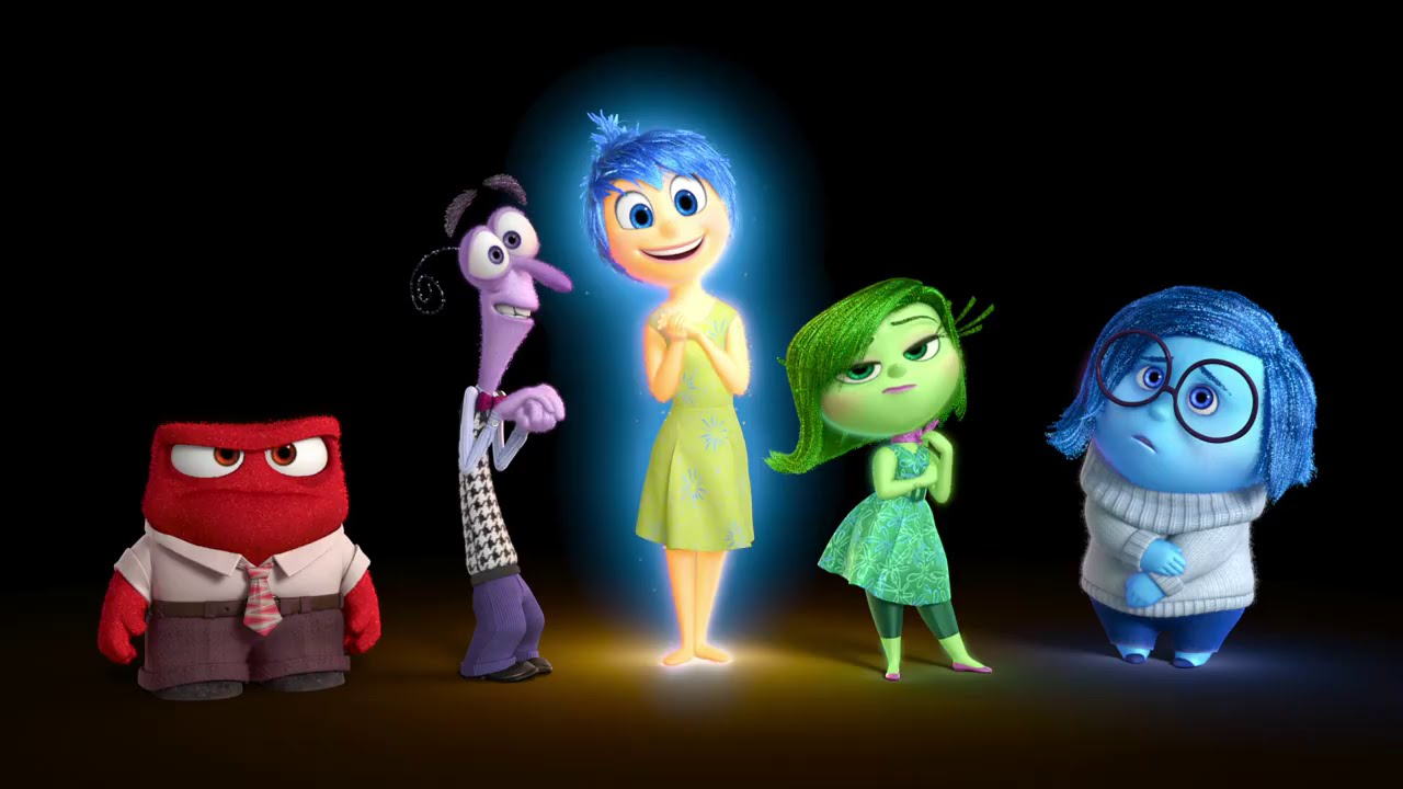 Anger, Fear, Joy, Disgust, and Sadness in INSIDE OUT
