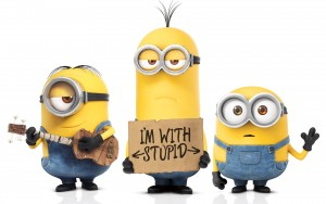 Stuart, Kevin, and Bob in Minions