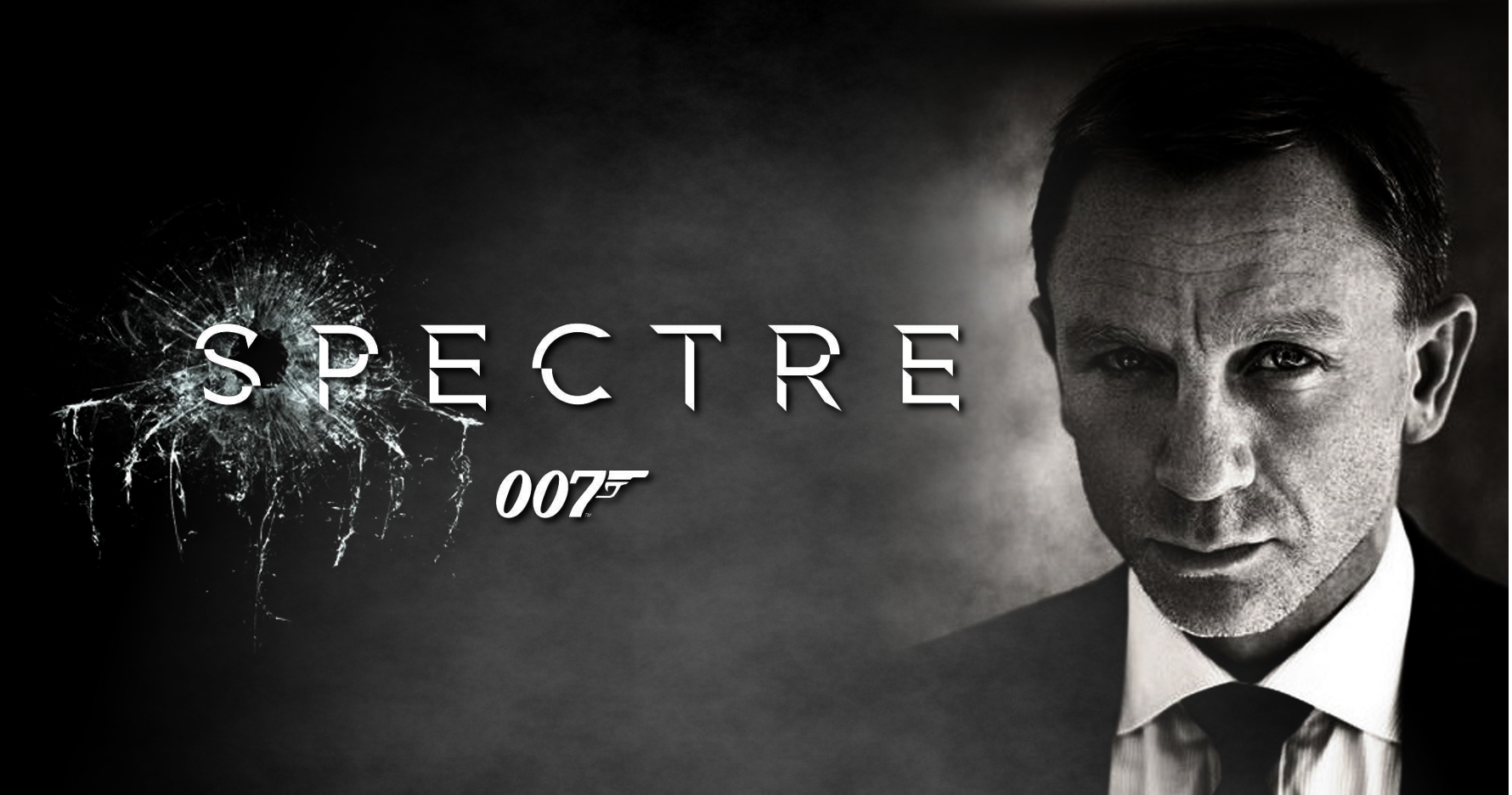 SPECTRE movie poster with Daniel Craig