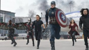 Captain America and his crew assemble in CAPTAIN AMERICA: CIVIL WAR