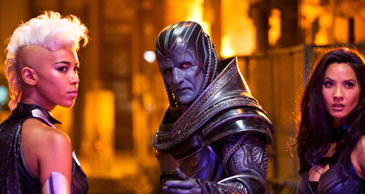 Alexandra Shipp, Oscar Isaac, and Olivia Munn in X-MEN: APOCALYPSE