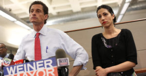 Anthony Weiner and Huma Abedin in WEINER