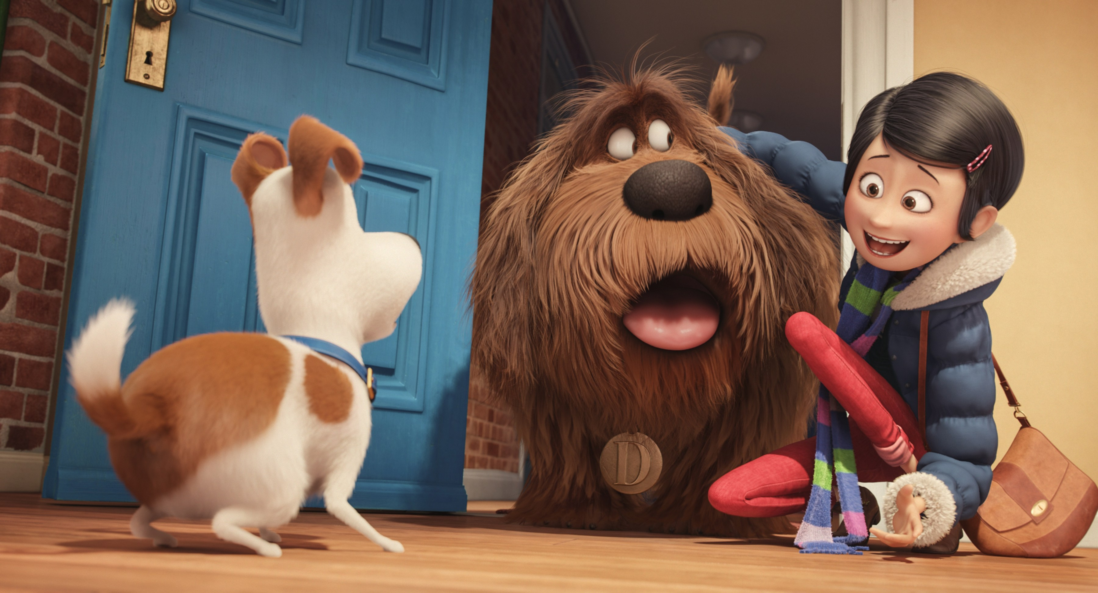 Louis C.K., Eric Stonestreet, and Ellie Kemper in THE SECRET LIFE OF PETS