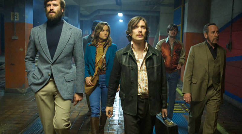 Armie Hammer, Brie Larson, Cillian Murphy, and Michael Smiley in FREE FIRE