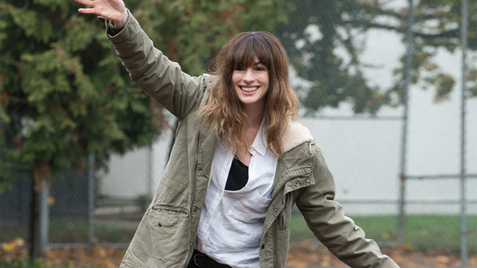 Anne Hathaway in COLOSSAL.