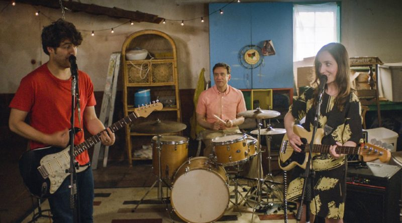 Adam Pally, Fred Armisen, and Zoe Lister-Jones in BAND AID.
