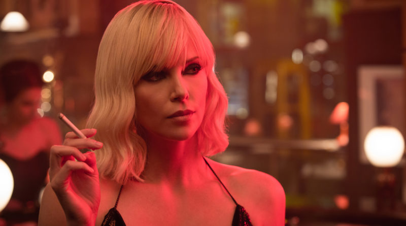 Charlize Theron looking super cool in ATOMIC BLONDE.