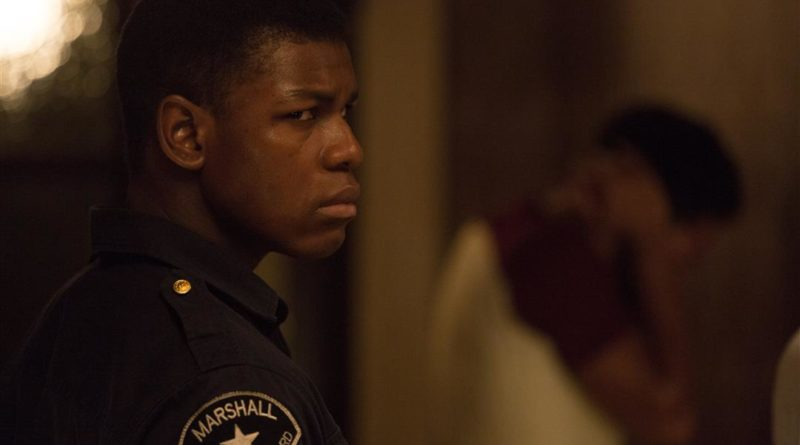 John Boyega looking terrified and angry in DETROIT.
